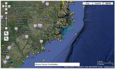 View Offshore Bouy Observations