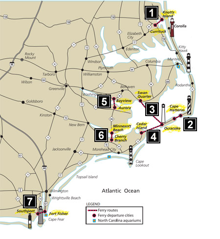 NC Ferry Routes
